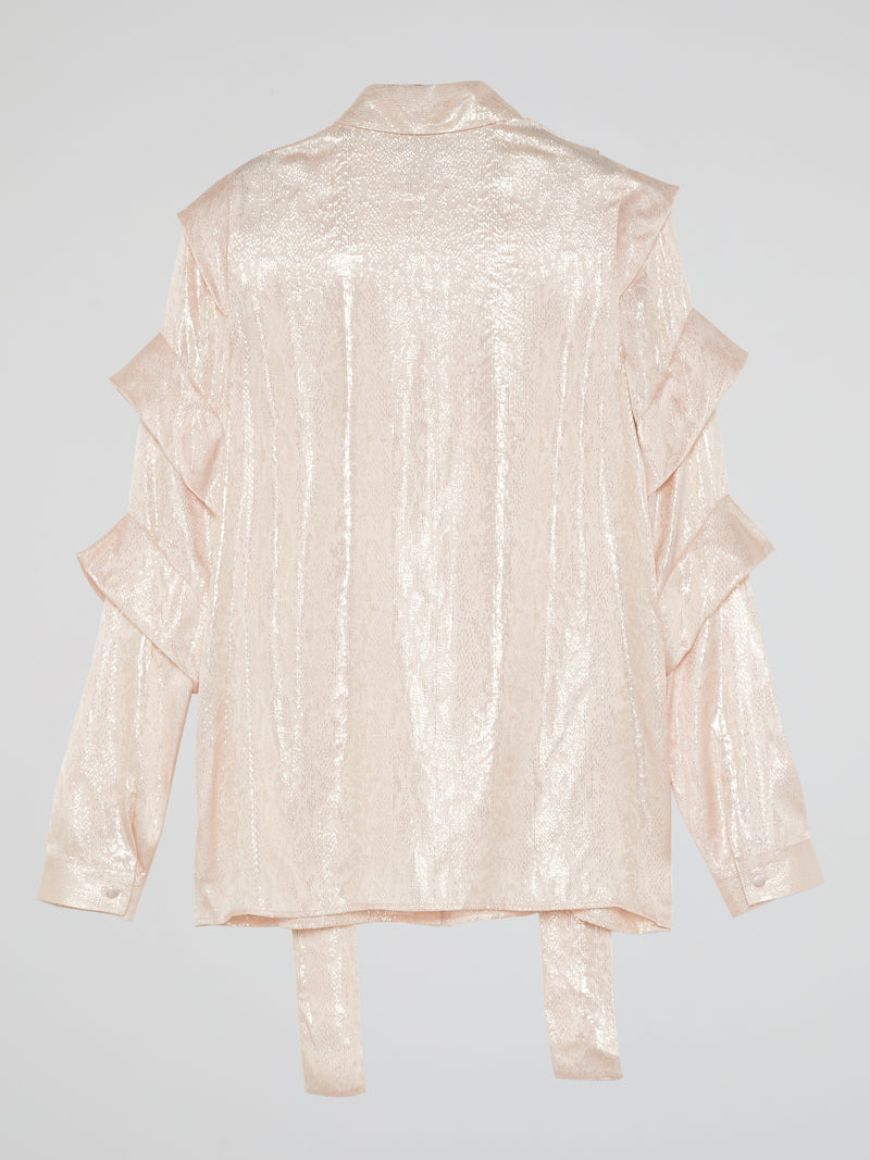 Pink Tiered Sleeve Shirt