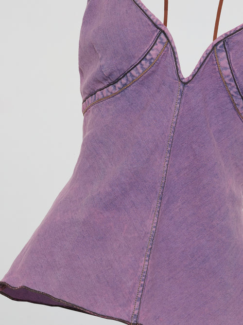 Purple Halter Neck Top