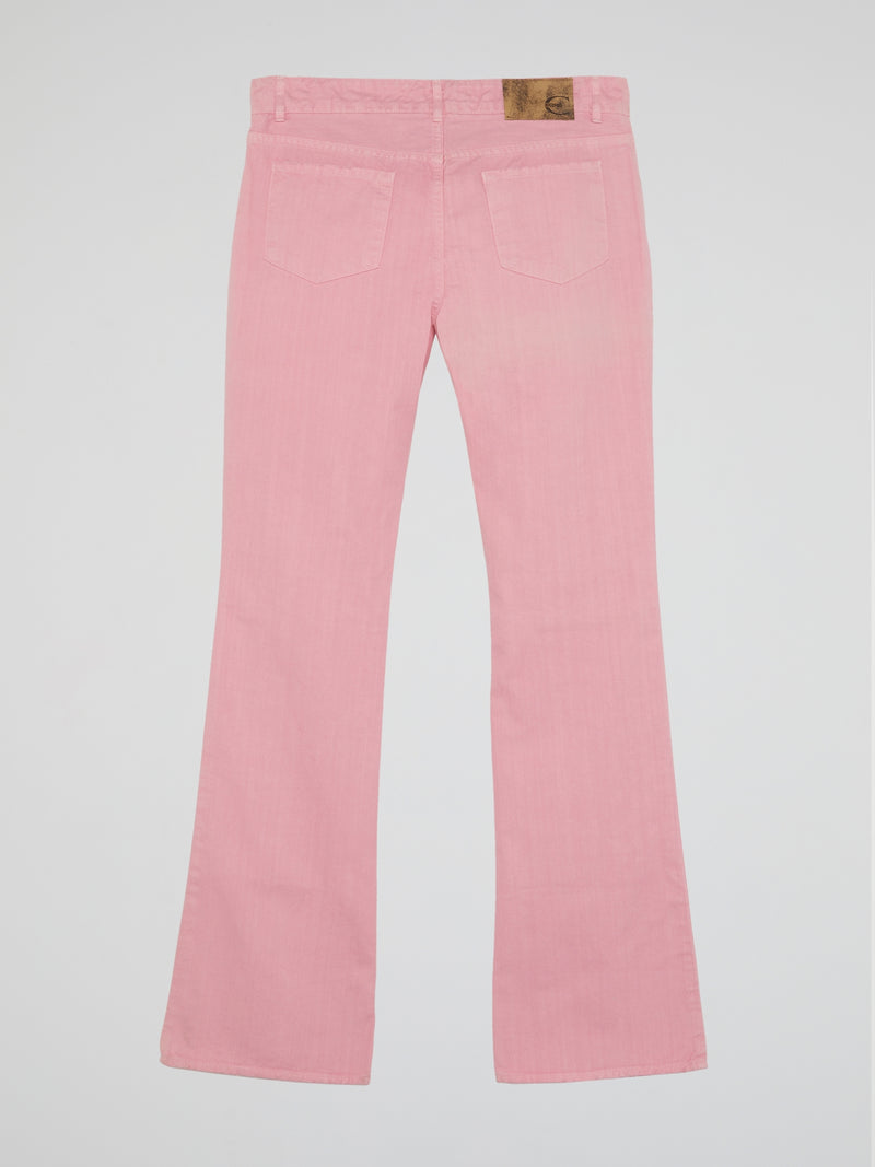 Pink Bootcut Jeans