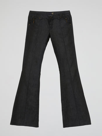 Black Flared Jeans