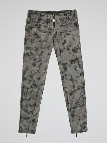 Grey Acid Wash Jeans