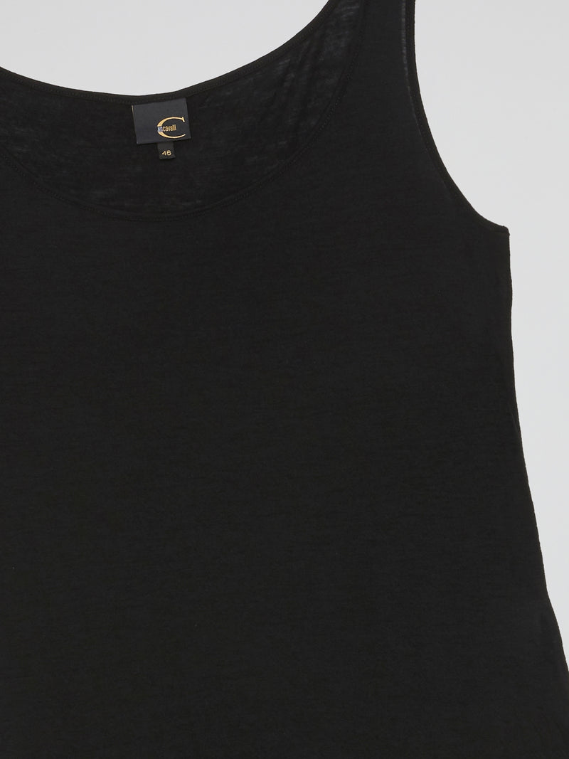 Black Cotton Tank Top