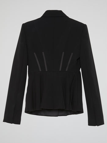 Black Rear Pleat Blazer