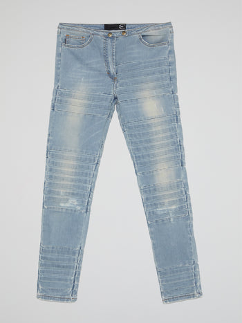 Blue Stonewash Distressed Jeans
