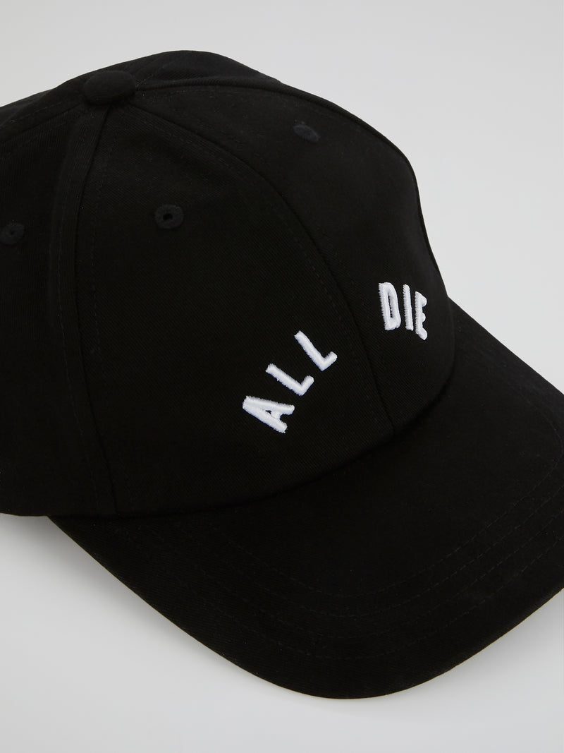 Black Statement Adjustable Cap