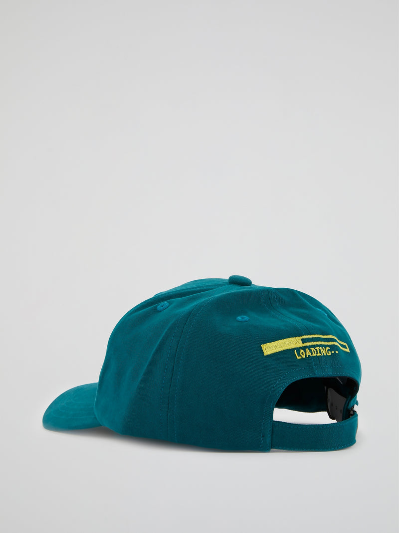Teal Embroidered Baseball Cap