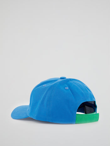 Blue Embroidered Baseball Cap