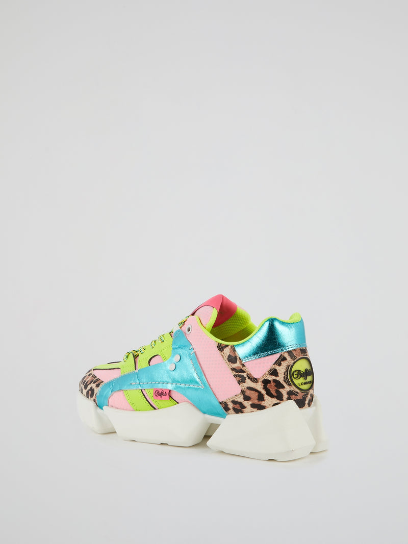 Mtrcs One Leopard Panel Sneakers