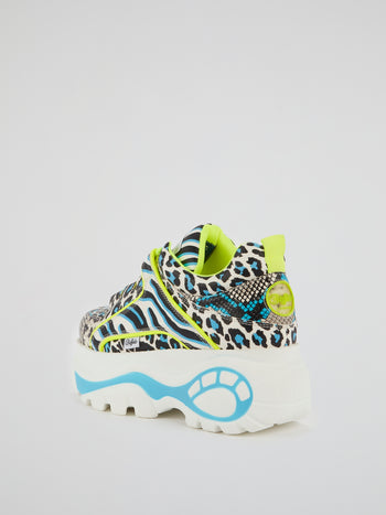 Animal Print Chunky Sneakers
