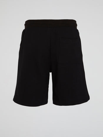 Black Logo Active Shorts