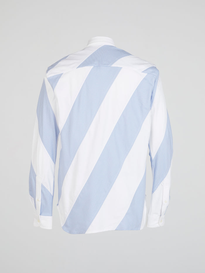 Striped Patchwork Long Sleeve Short