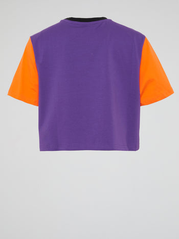 Bugs Bunny Colour Block Crop Top