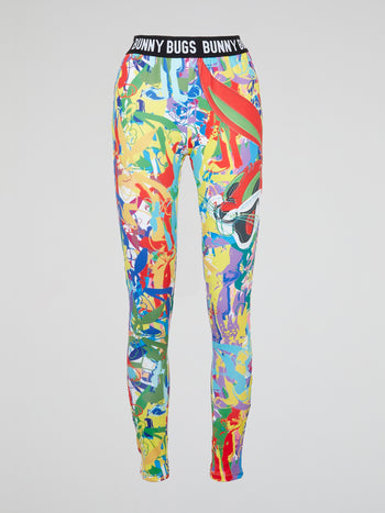 Bugs Bunny Abstract Print Leggings