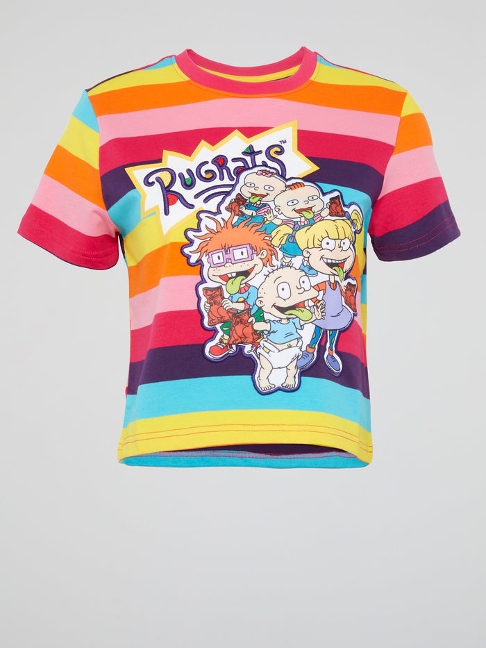 Rugrats Rainbow Striped T-Shirt
