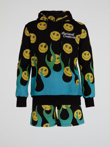 Smiley All Over Print Hoodie