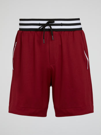 Burgundy Drawstring Bermuda Shorts