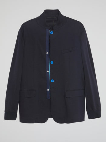 Navy Button-Up Jacket