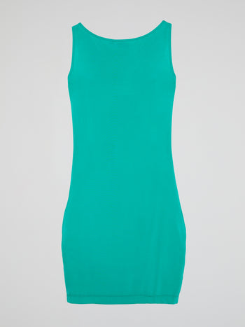 Turquoise Cowl Neck Dress