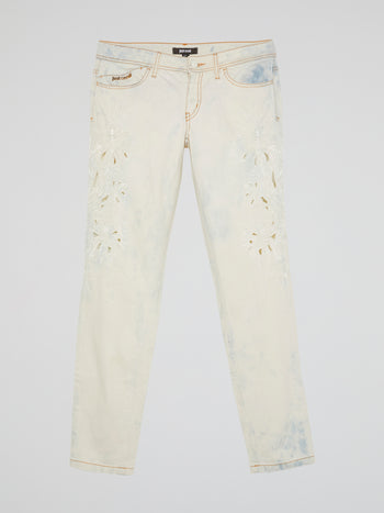 White Acid Wash Jeans