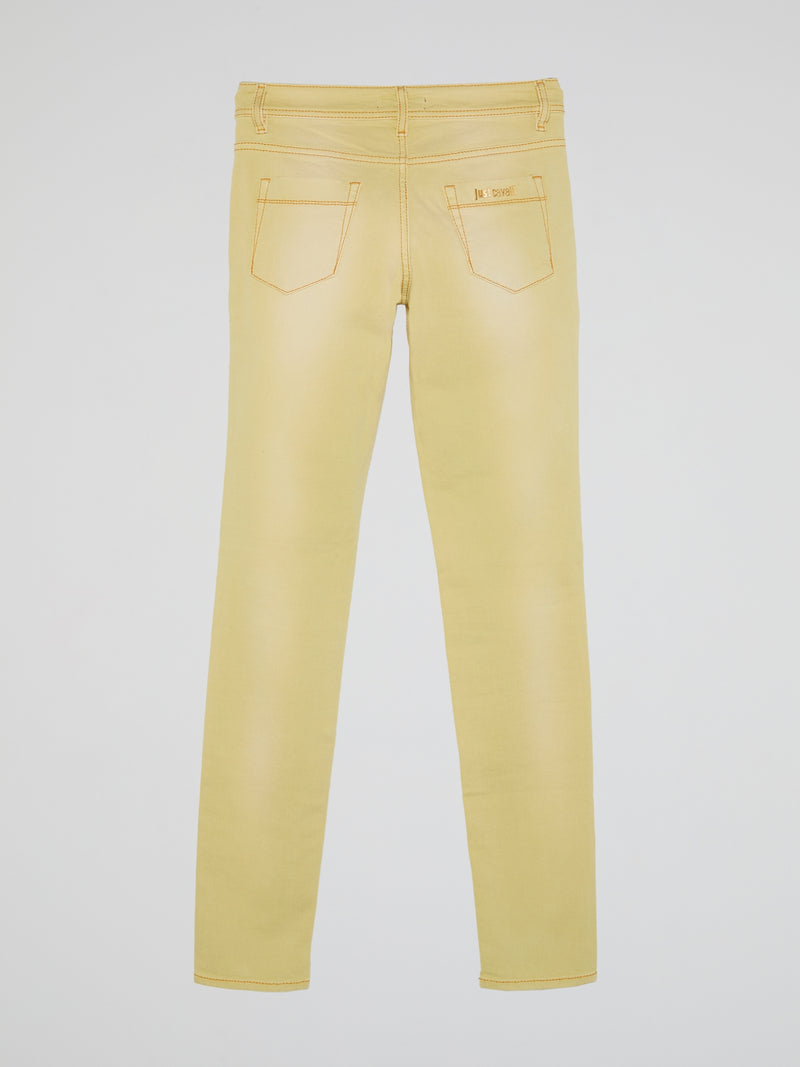 Yellow Slim Fit Jeans