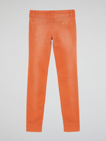 Orange Slim Fit Jeans
