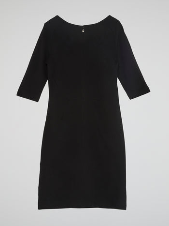 Black Sweetheart Neckline Dress