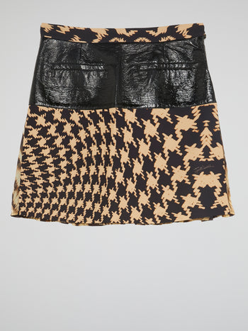 Pleat Front Printed Skirt