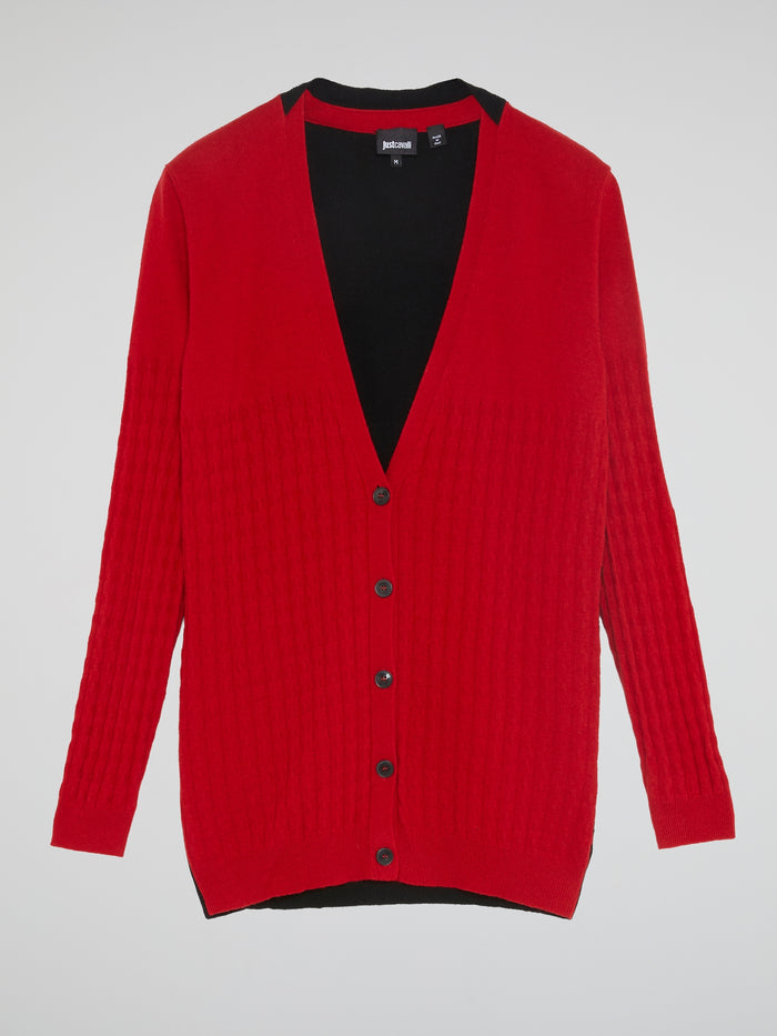 Two-Tone Textured Cardigan