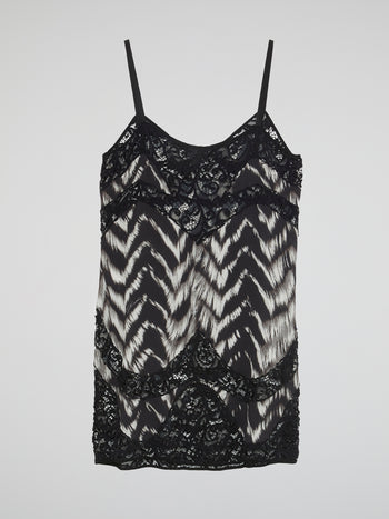 Black Lace Detailed Cami Top