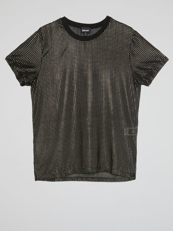 Black Studded Crewneck T-Shirt
