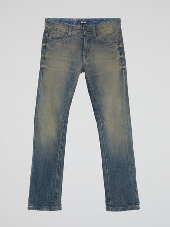 Rustic Straight Cut Jeans
