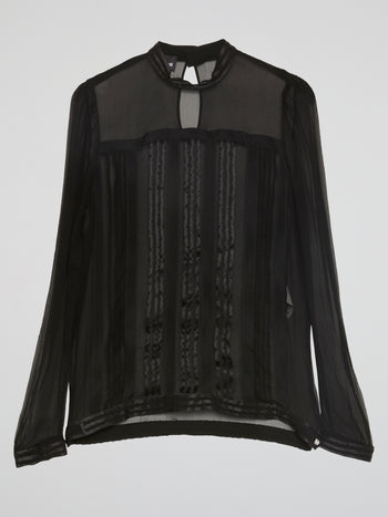 Black Rear Keyhole Blouse