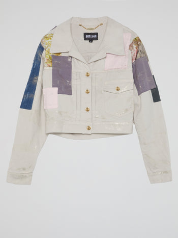 Patchwork Cropped Jacket