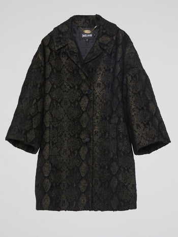 Reptilian Button-Up Coat