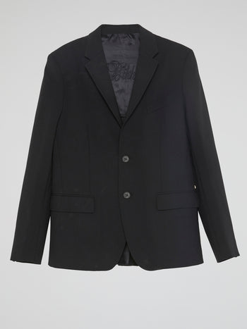 Black Single-Breasted Blazer