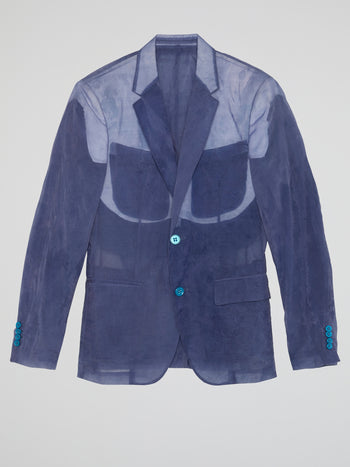 Purple Linen Blazer