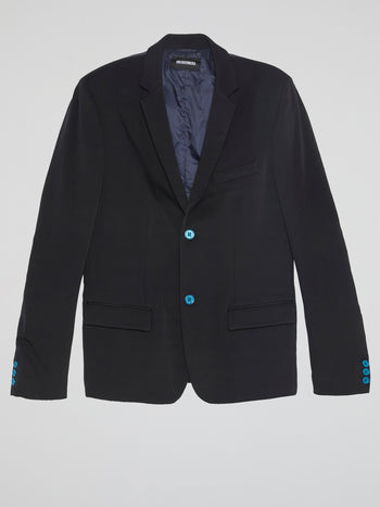 Navy Single-Breasted Blazer