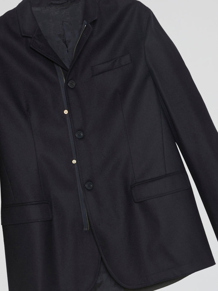 Navy Panelled Blazer