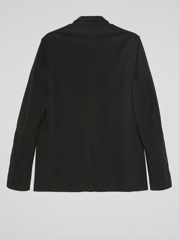 Black Zip-Up Blazer