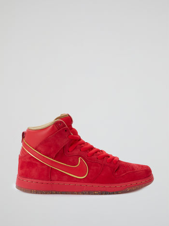 Red Velvet Dunk High Premium SB Sneakers