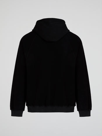Vintage Black Inside-Out Hoodie