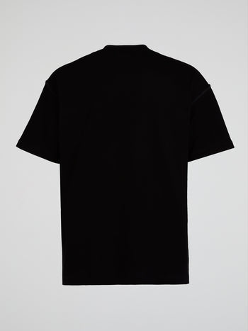 Black Inside-Out Oversized T-Shirt