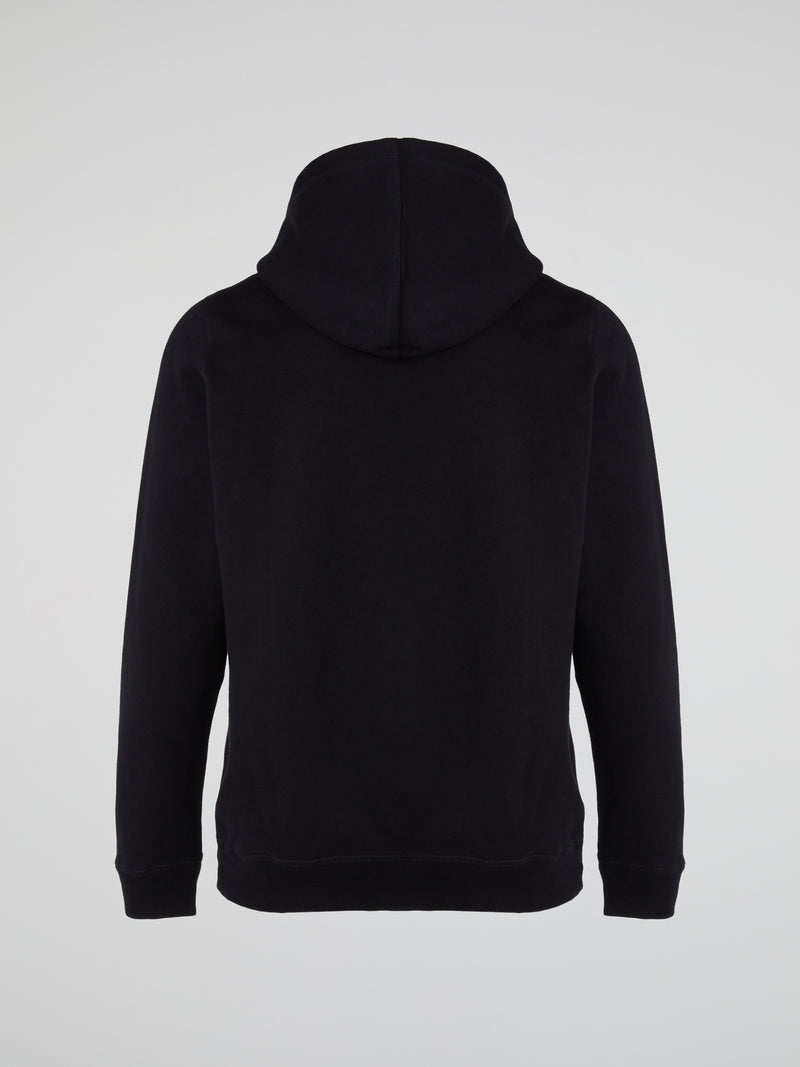 Black Owl Embroidered Hoodie