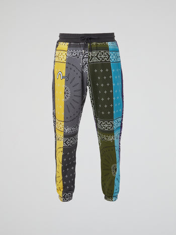 Bandana Handkerchief All Over Print Sweatpants