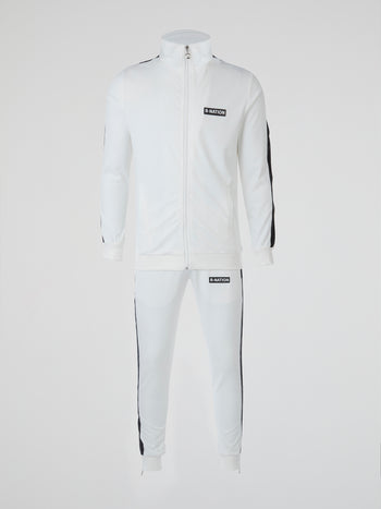 White Reflective Stripe Tracksuit
