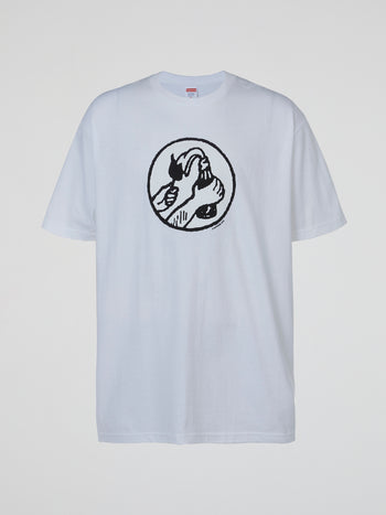 White Supreme Molotov T-Shirt