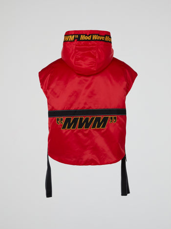Red Satin Boxing Vest
