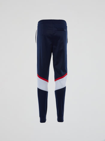 Navy Contrast Panel Active Pants