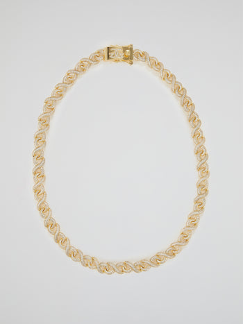 "Gold Diamond Infinity Chain (22"" 12mm)"