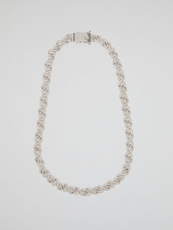 "White Gold Diamond Infinity Chain (22"" 12mm)"